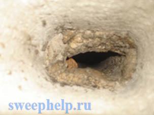 засорение вентиляционного канала